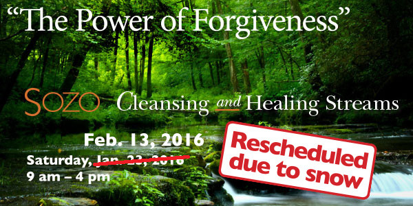 New SOZO workshop: The Power of Forgiveness.