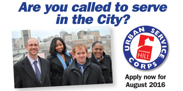 Apply now for Urban Service Corps