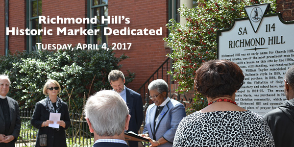 Historic Marker Dedicated on April 4!