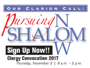 Clergy Convocation 2017: Pursuing Shalom Now