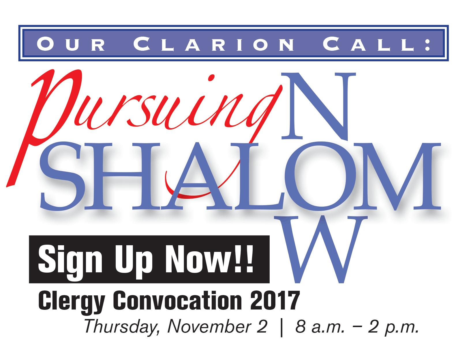 Clergy Convocation 2017: Pursuing Shalom Now