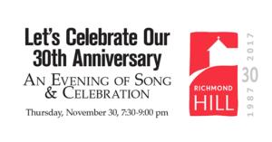 Celebrating 30 Years on November 30th