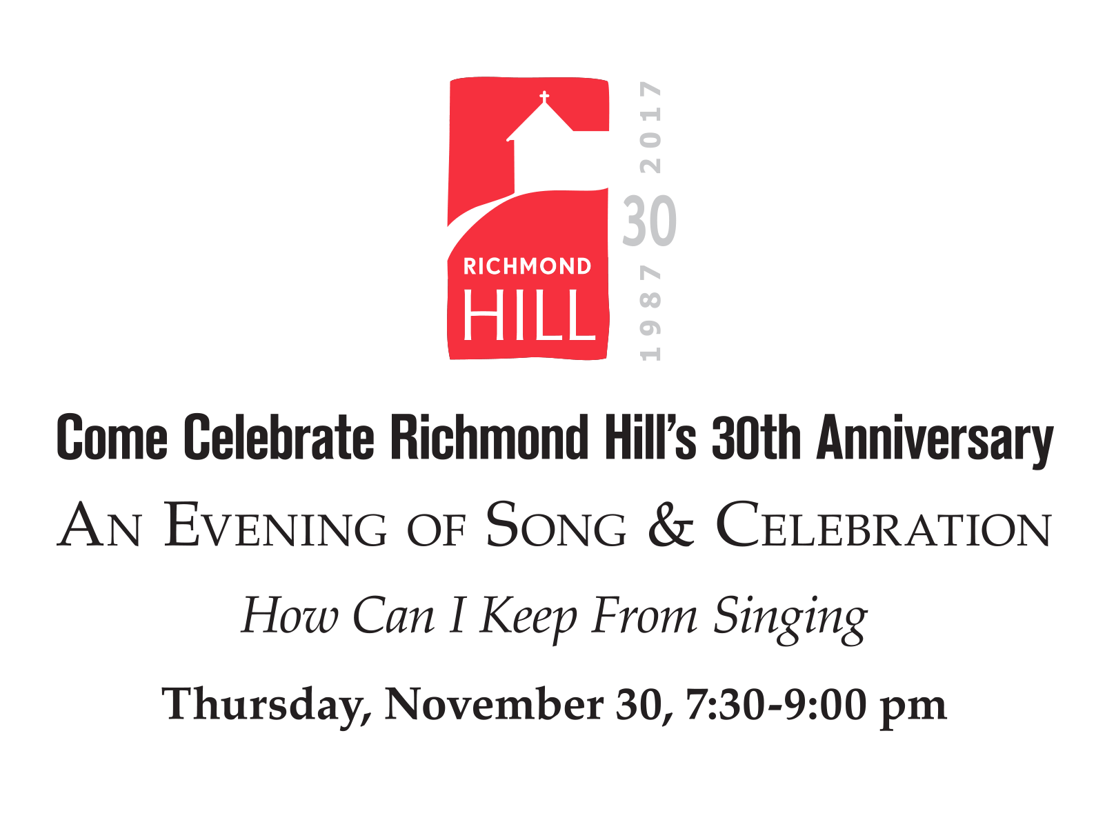 Richmond Hill is turning 30!